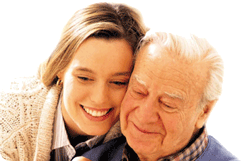 Aged Care Father and Daughter